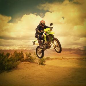 Man Jumping Motocross Bike by Anne-Marie Weber
