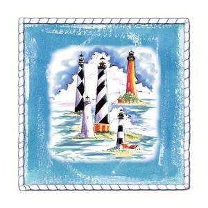 Beach-Front-Lighthouses by Anne Ormsby