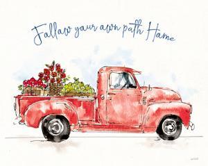 Americana Mood VIII Red Truck Blue by Anne Tavoletti