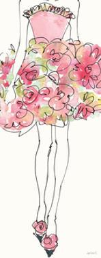 Floral Fashion Shoulders I Pink by Anne Tavoletti