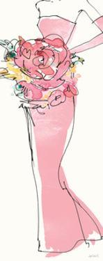 Floral Fashion Shoulders II Pink by Anne Tavoletti