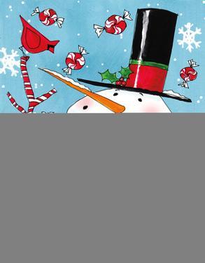 Holiday Joy III Blue Crop by Anne Tavoletti