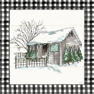 Holiday on the Farm IV BW Buffalo Check by Anne Tavoletti