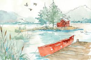 Lakehouse II Red by Anne Tavoletti