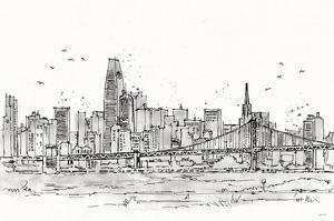 Skyline Sketches VII No Words Flowers by Anne Tavoletti