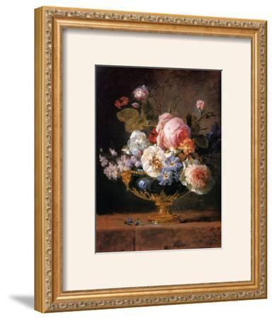 Fleurs dans un Vase de Porceleine Bleue, c.1780