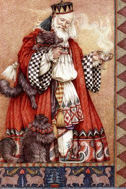 Father Christmas and Cats by Anne Yvonne Gilbert