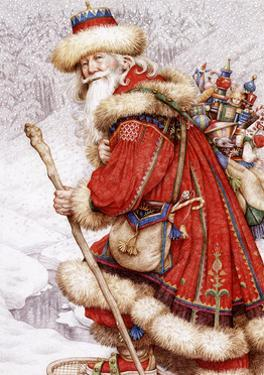Father Christmas with Toys by Anne Yvonne Gilbert