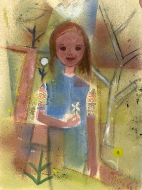 Child with a Dove, C.1940-45 by Anneliese Everts