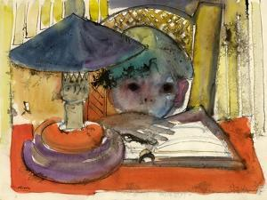 Child with a Kerosene Lamp by Anneliese Everts