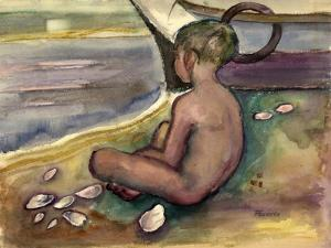 Child with Sea Shells, 1955-60 by Anneliese Everts