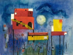 Houses in a Garden by Anneliese Everts