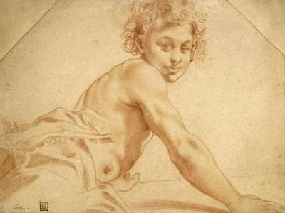 A Boy Looking over His Shoulder by Annibale Carracci