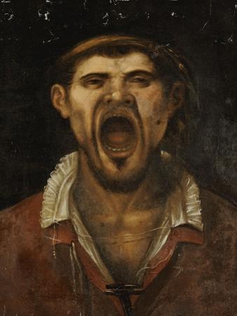 A Peasant Man Shouting by Annibale Carracci