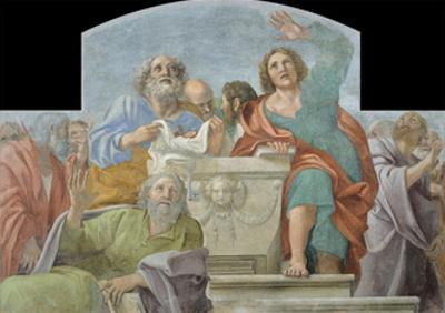 Apostles around the Empty Sepulchre, 1604-1607 by Annibale Carracci