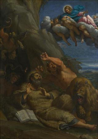 Christ Appearing to Saint Anthony Abbot During His Temptation, C. 1598 by Annibale Carracci