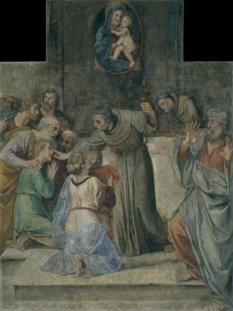 Healing the Blind at Birth, 1604-1607 by Annibale Carracci
