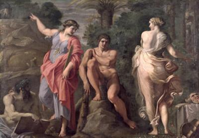 Hercules at the Crossroads, c.1596 by Annibale Carracci