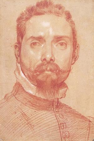 Portrait of the Lute Player Giulio Mascheroni, Ca 1594 by Annibale Carracci