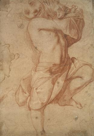 Semi-Nude Boy (Chalk on Paper) by Annibale Carracci
