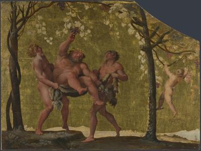 Silenus Gathering Grapes, C. 1598 by Annibale Carracci