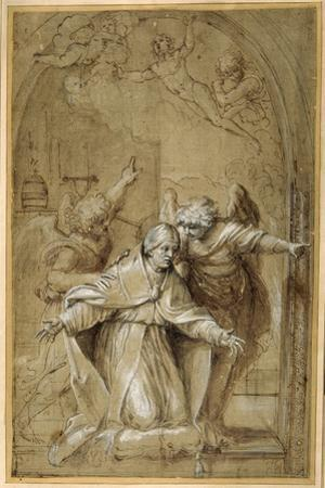 St Gregory Attended by Angels Praying for Souls in Purgatory by Annibale Carracci