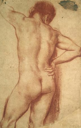 Study of a Nude Man by Annibale Carracci