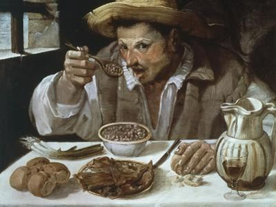 The Bean Eater, 1583-1585 by Annibale Carracci