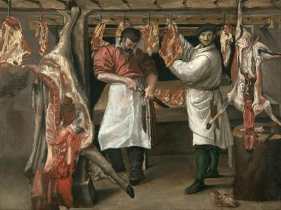 The Butcher's Shop by Annibale Carracci