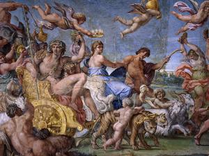 Triumph of Bacchus and Ariadne, from Loves of the Gods Frescos by Annibale Carracci