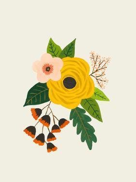 Folk Art Flowers No 3 by Annie Bailey
