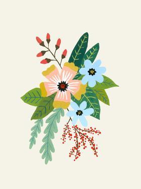 Folk Art Flowers No 4 by Annie Bailey