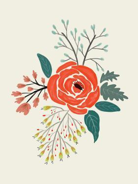 Folk Art Flowers No 6 by Annie Bailey