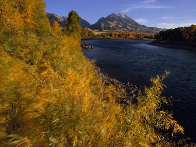 Autumnal View of Paradise Valley and the Yellowstone River. Emigrant Peak in Distance by Annie Griffiths Belt