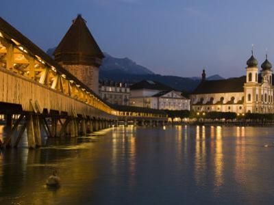 Kappelbrucke or Chapel Bridge, Europe's Oldest Covered Wooden Bridge by Annie Griffiths Belt