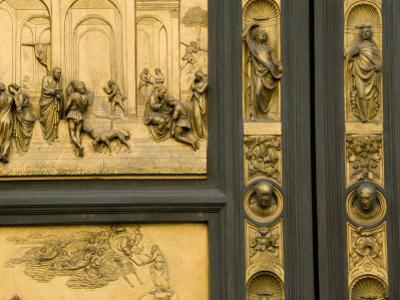 Lorenzo Ghiberti's Portrait Bust on the Baptistry Doors He Designed by Annie Griffiths Belt
