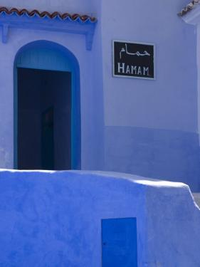 Street Scene in the Famous Blue Town of Chefchaouen by Annie Griffiths Belt