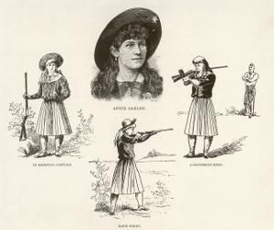 Annie Oakley Entertains with Feats of Skillful Marksmanship