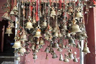 Hindu Bells, Rung by Devotees as an Invocation to the Deities to Hear their Prayers, Sivadol Mandir