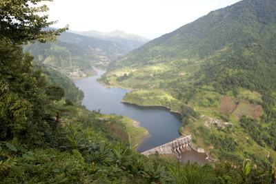 Newly Constructed Hydro Electric Dam in the Hilly Kimin District of Arunachal Pradesh, India, Asia