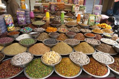 Spice and Sweet Stall in the Market, Ahmedabad, Gujarat, India