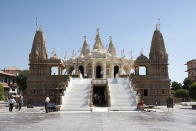 The Carved White Marble Jain Swaminarayan Temple, Gondal, Gujarat, India, Asia