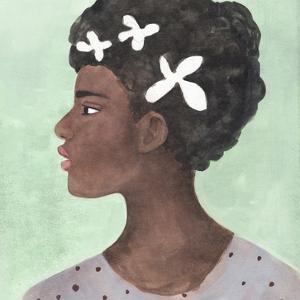 Folk Art Portrait II by Annie Warren