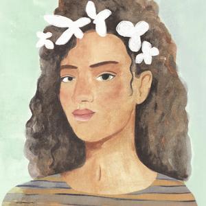 Folk Art Portrait III by Annie Warren