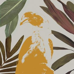 Graphic Tropical Bird II by Annie Warren