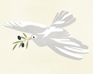 Olive Branch Dove I by Annie Warren