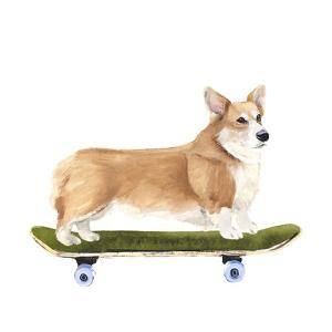 Pups on Wheels III by Annie Warren