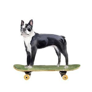 Pups on Wheels IV by Annie Warren
