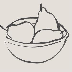 Simple Pear II by Annie Warren