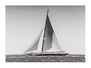 Classic racing sailboat by Anonymous